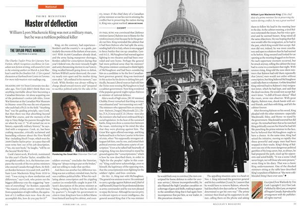 Article Preview: Master of deflection, February 2013   Maclean's
