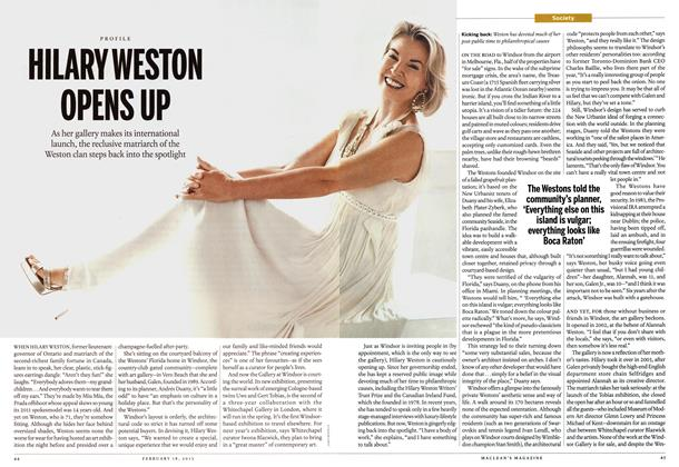 Article Preview: HILARY WESTON OPENS UP, February 2013 | Maclean's