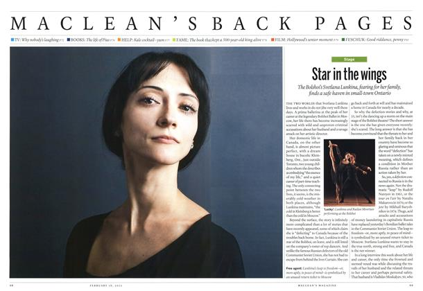 Article Preview: Star in the wings, February 2013 | Maclean's