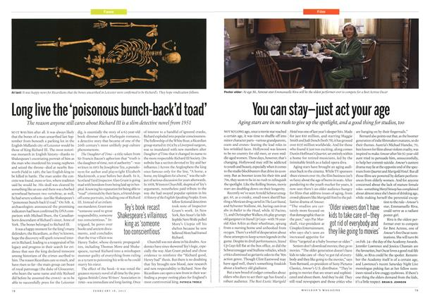 Article Preview: Long live the 'poisonous bunch-back'd toad', February 2013 | Maclean's