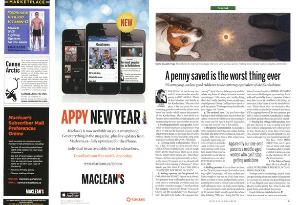 Article Preview: A penny saved is the worst thing ever, February 2013 | Maclean's