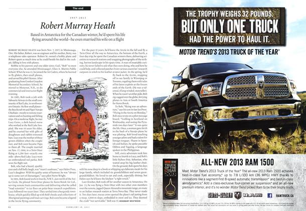 Article Preview: 1957-2013 Robert Murray Heath, February 2013 | Maclean's