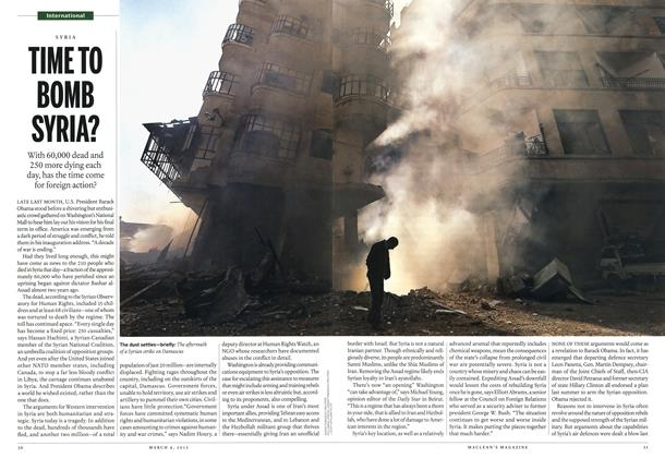 Article Preview: TIME TO BOMB SYRIA?, March 2013 | Maclean's
