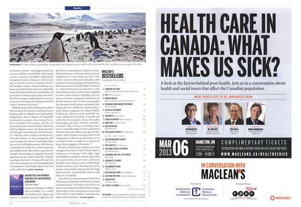 Article Preview: MACLEAN'S BESTSELLERS, March 2013 | Maclean's