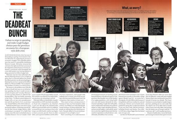 Article Preview: THE DEADBEAT BUNCH, March 2013 | Maclean's