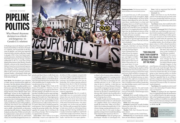 Article Preview: PIPELINE POLITICS, March 2013 | Maclean's
