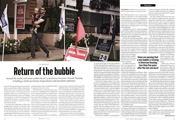 Article Preview: Return of the bubble, March 2013 | Maclean's