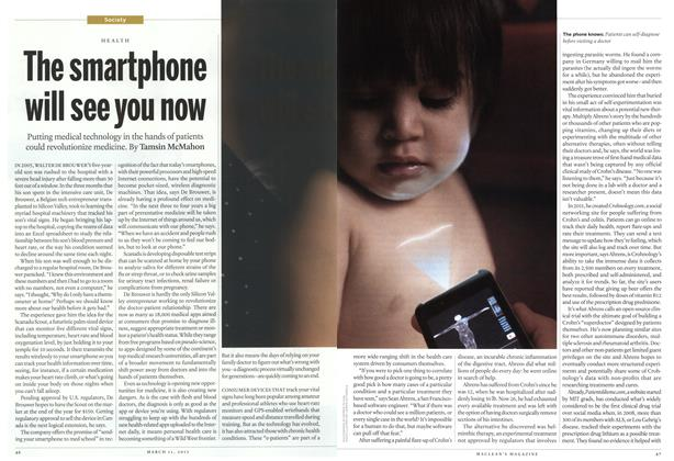 Article Preview: The smartphone will see you now, March 2013 | Maclean's
