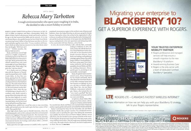 Article Preview: Rebecca Mary Tarbotton, March 2013 | Maclean's