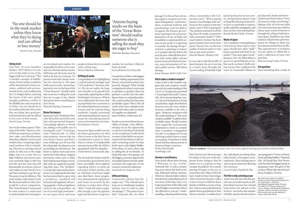 Article Preview: Letters, March 2013 | Maclean's