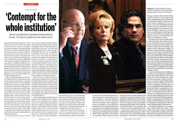 Article Preview: 'Contempt for the whole institution', March 2013 | Maclean's