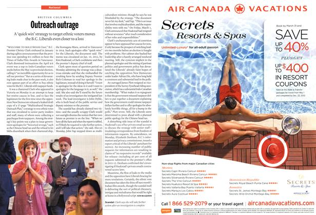 Article Preview: Outreach outrage, March 2013 | Maclean's