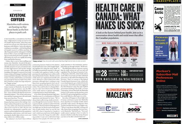 Article Preview: KEYSTONE COFFERS, March 2013 | Maclean's