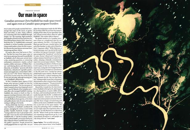 Article Preview: Our man in space, March 2013 | Maclean's