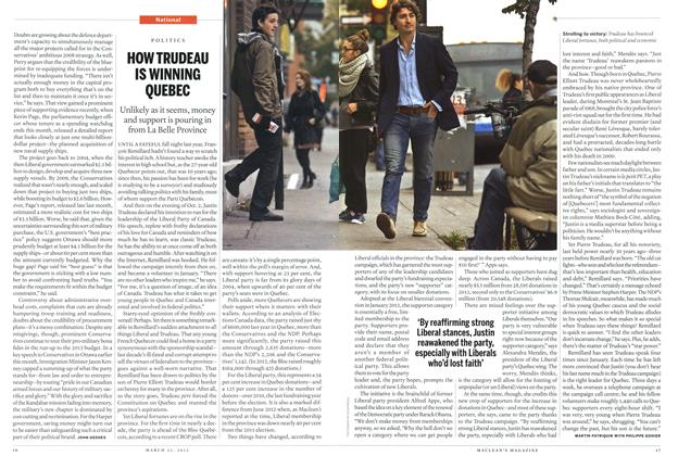 Article Preview: HOW TRUDEAU IS WINNING QUEBEC, March 2013 | Maclean's