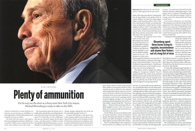 Article Preview: Plenty of ammunition, March 2013 | Maclean's