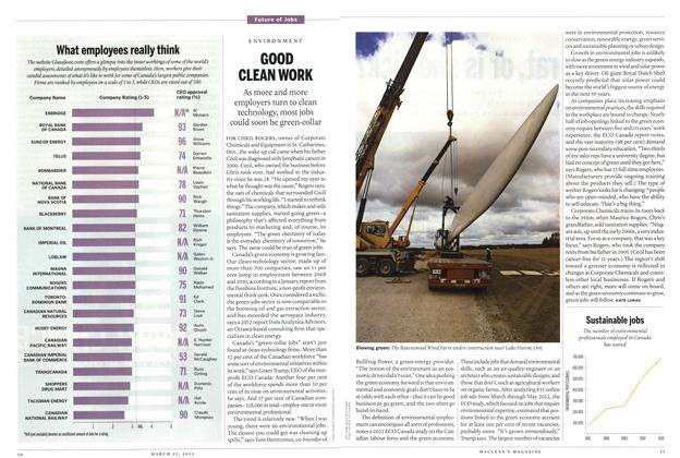 Article Preview: GOOD CLEAN WORK, March 2013 | Maclean's