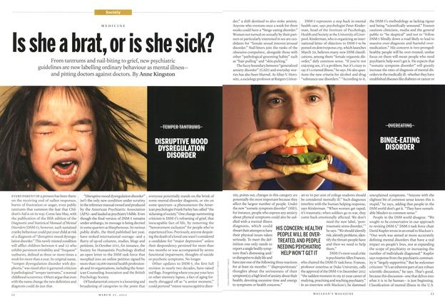 Article Preview: Is she a brat, or is she sick?, March 2013 | Maclean's