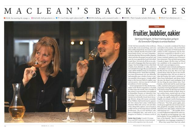 Article Preview: Fruitier, bubblier, oakier, March 2013 | Maclean's