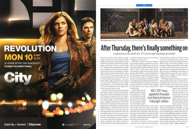 Article Preview: After Thursday, there's finally something on, March 2013 | Maclean's