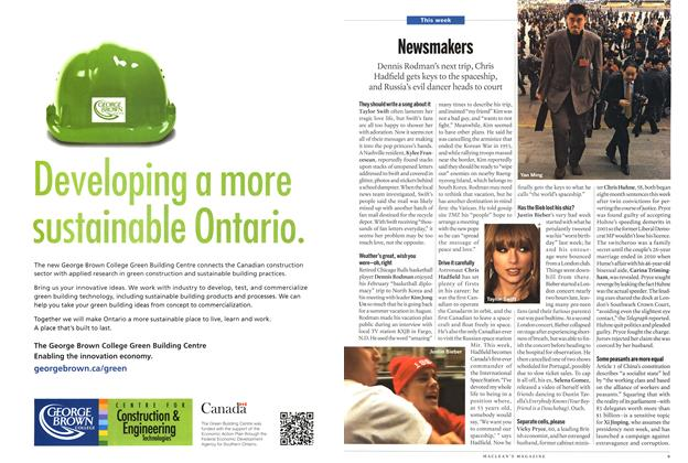 Article Preview: Newsmakers, March 2013 | Maclean's