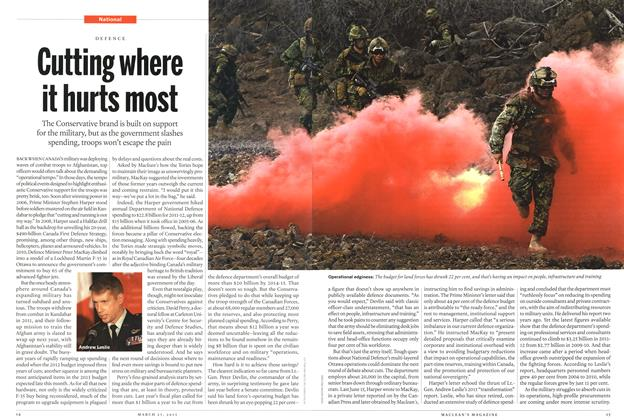 Article Preview: Cutting where it hurts most, March 2013   Maclean's