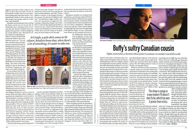 Article Preview: Buffy's sultry Canadian cousin, April 2013 | Maclean's