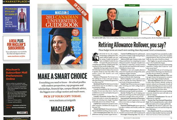 Article Preview: Retiring Allowance Rollover, you say?, April 2013 | Maclean's