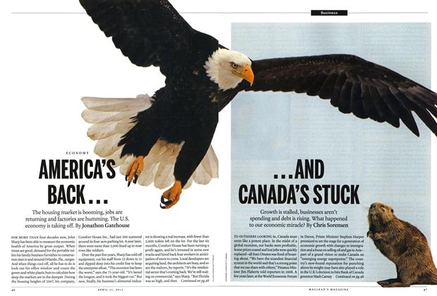 Article Preview: AMERICA'S BACK... ...AND CANADA'S STUCK, April 2013 | Maclean's