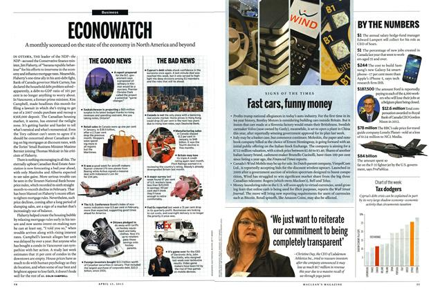 Article Preview: ECONOWATCH, April 2013 | Maclean's