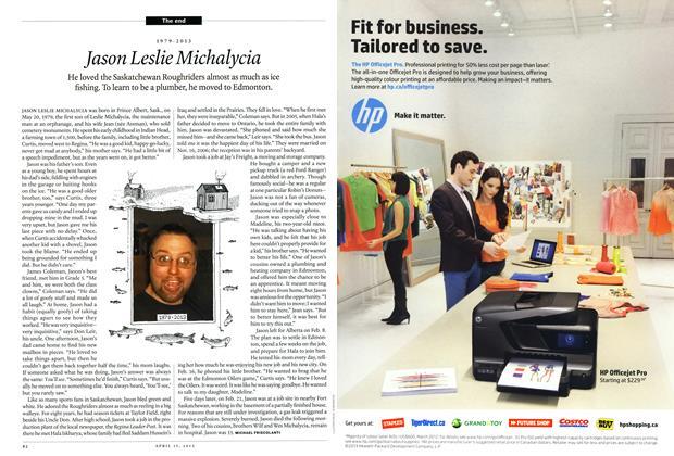 Article Preview: Jason Leslie Miehalycia, April 2013 | Maclean's