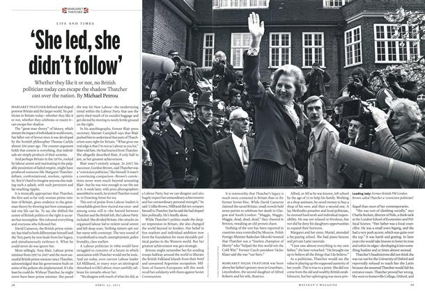 Article Preview: 'She led, she didn't follow', April 2013 | Maclean's