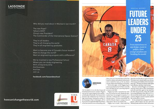 Article Preview: ANDREW WIGGINS SPORTS, April 2013 | Maclean's