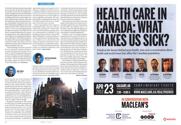Article Preview: DHEEVESH ARULMANI SCIENCE, April 2013 | Maclean's