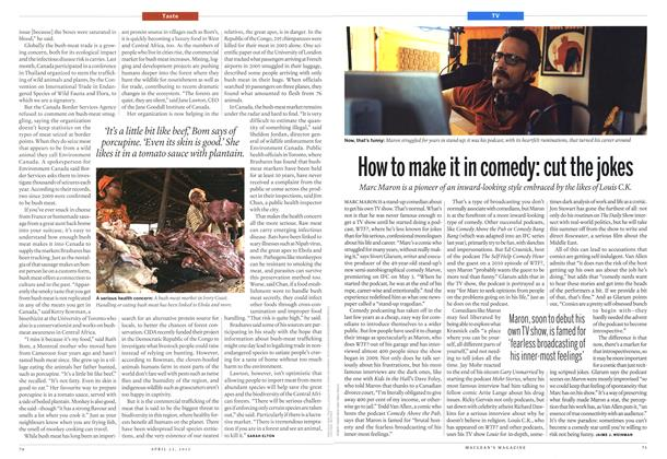 Article Preview: How to make it in comedy: cut the jokes, April 2013 | Maclean's