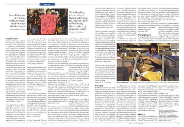 Article Preview: Letters, April 2013 | Maclean's