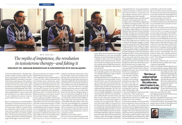 Article Preview: The myths of impotence, the revolution in testosterone therapy—and faking it, April 2013 | Maclean's