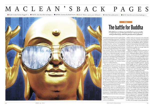 Article Preview: The battle for Buddha, April 2013 | Maclean's