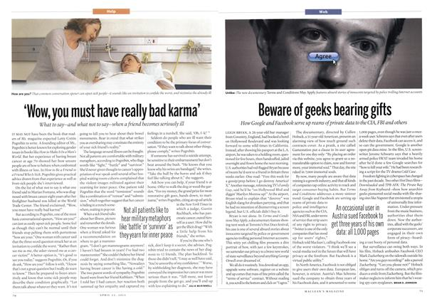 Article Preview: 'Wow, you must have really bad karma', April 2013 | Maclean's