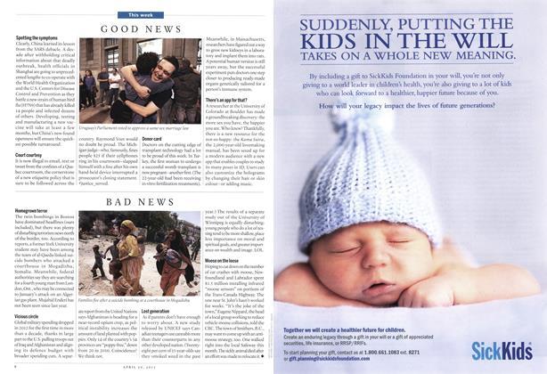 Article Preview: BAD NEWS, April 2013 | Maclean's