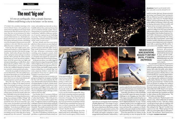 Article Preview: The next 'big one', May 2013 | Maclean's