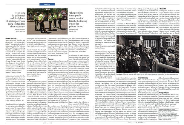 Article Preview: Letters, May 2013 | Maclean's