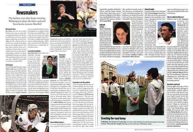Article Preview: Newsmakers, May 2013 | Maclean's