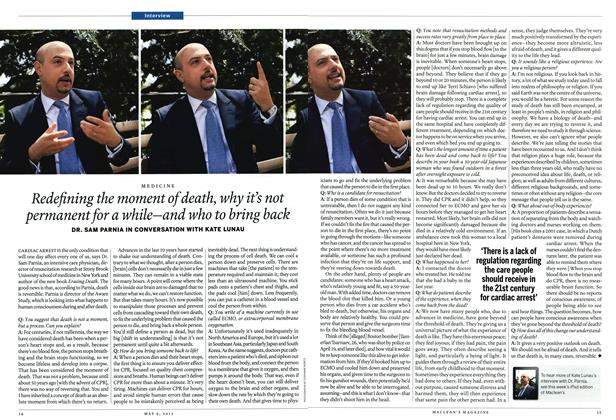 Article Preview: Redefining the moment of death, why it's not permanent for a while—and who to bring back, May 2013 | Maclean's