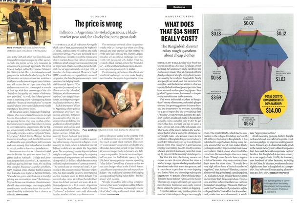 Article Preview: WHAT DOES THAT $14 SHIRT REALLY COST?, May 2013 | Maclean's