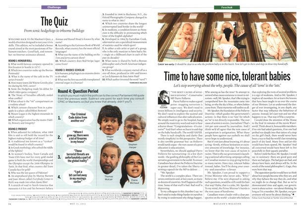 Article Preview: The Quiz, May 2013 | Maclean's