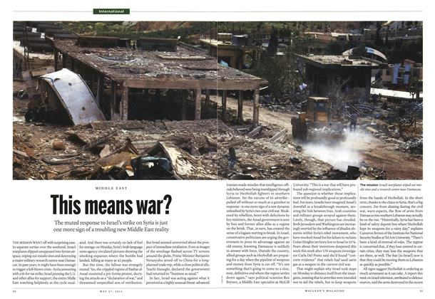 Article Preview: This means war?, May 2013 | Maclean's