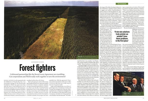 Article Preview: Forest fighters, May 2013 | Maclean's
