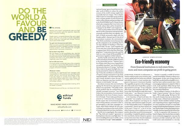 Article Preview: Eco-friendly economy, May 2013   Maclean's