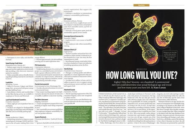 Article Preview: HOW LONG WILL YOU LIVE?, May 2013 | Maclean's